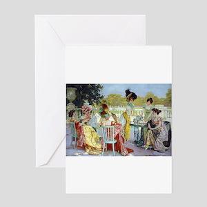 Regency Ladies Tea Party Greeting Card