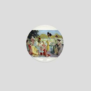 Regency Ladies Tea Party Mini Button