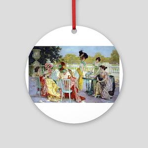 Regency Ladies Tea Party Ornament (Round)