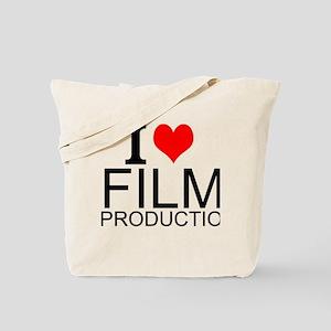 I Love Film Production Tote Bag