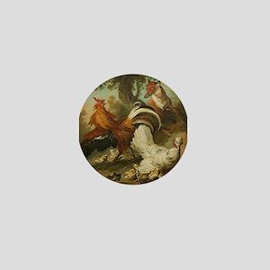 Fox In The Hen House Mini Button