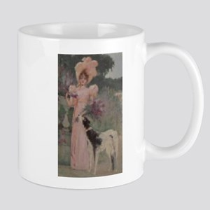 Lady And The Afghan Hound Mug