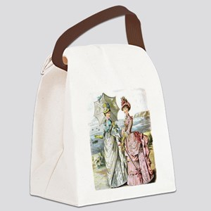 Duo of Victorian Ladies Canvas Lunch Bag