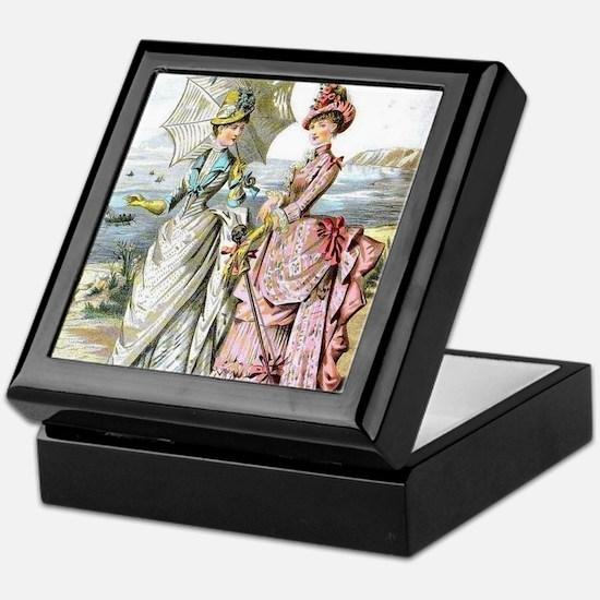 Duo of Victorian Ladies Keepsake Box