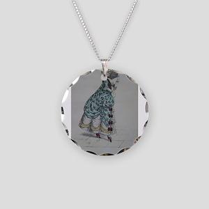 Pretty Pompadore Necklace Circle Charm