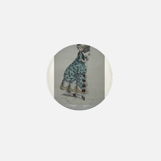 Pretty Pompadore Mini Button