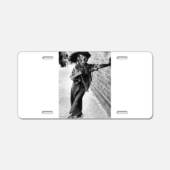 Victorian Chimney Sweep Aluminum License Plate