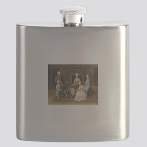 Happy Colonial Family Flask