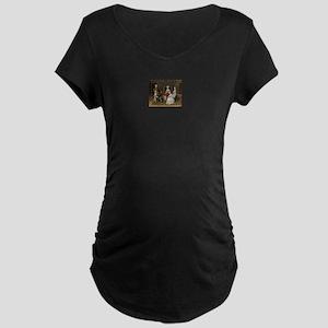 Happy Colonial Family Maternity Dark T-Shirt