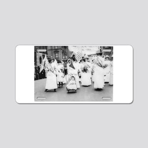 Suffragettes Aluminum License Plate