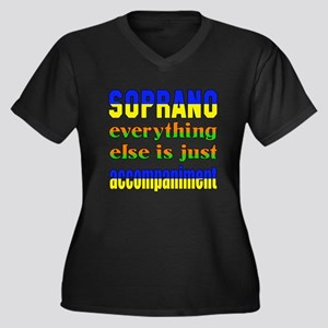 Soprano ever Women's Plus Size V-Neck Dark T-Shirt