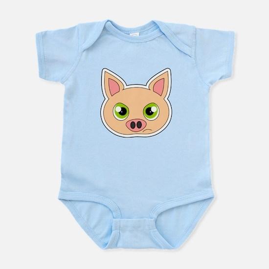 Cute Sad Cartoon Pig Infant Bodysuit