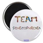 "Team Schizophrenia Button 2.25"" Magnets 10 Pa"