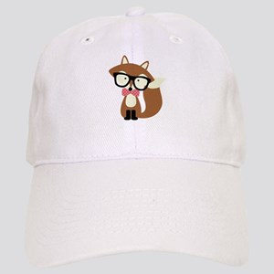 Hipster Brown Fox Baseball Cap