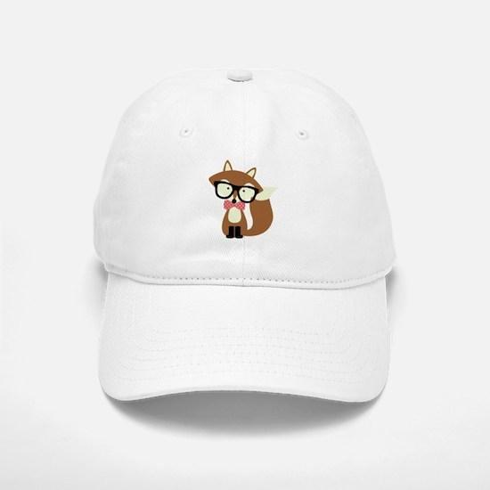 Hipster Brown Fox Baseball Baseball Baseball Cap