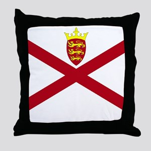 Jersey flag Throw Pillow