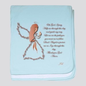 Life is fragile Angel baby blanket