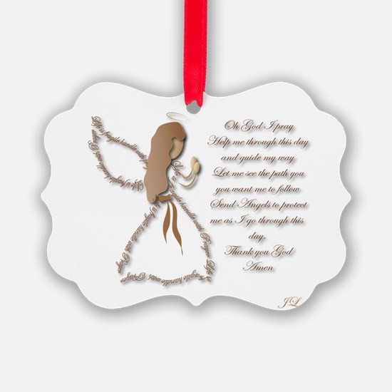 Life is fragile Angel Ornament