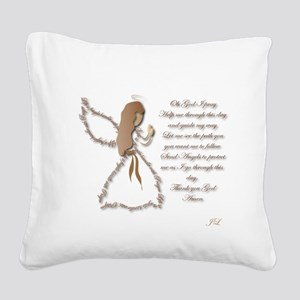Life is fragile Angel Square Canvas Pillow