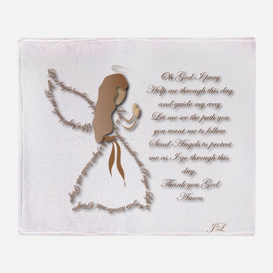 Life is fragile Angel Throw Blanket