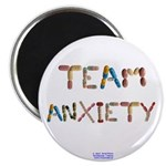 "Team Anxiety Button Magnets 2.25"" 10 Pack"