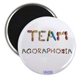 "Team Agoraphobia Button Magnets 2.25"" 10 Pack"