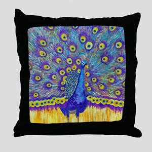 Popular Peacock Throw Pillow