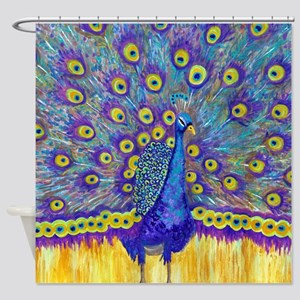 Popular Peacock Shower Curtain