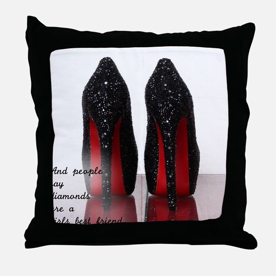 Cute Sexy shoes Throw Pillow