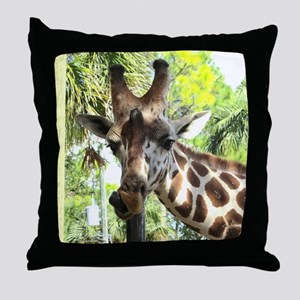 WILD GIRAFFE Throw Pillow