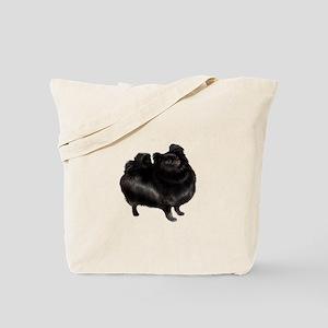 Pomeranian (blk) Tote Bag