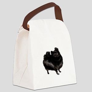 Pomeranian (blk) Canvas Lunch Bag