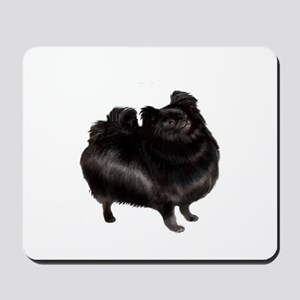 Pomeranian (blk) Mousepad