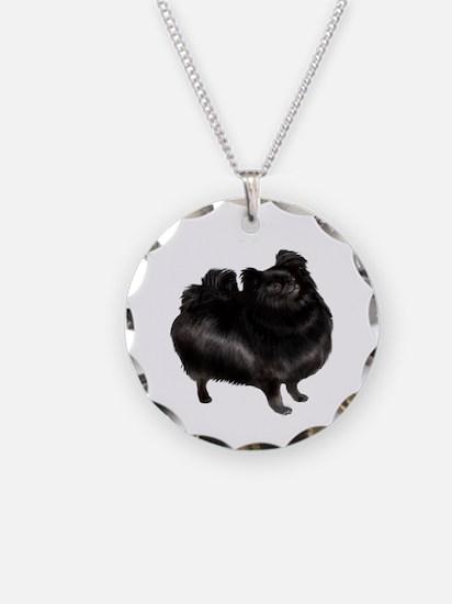 Pomeranian (blk) Necklace