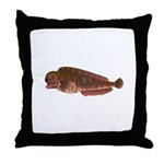 Pacific Wolf Eel tc Throw Pillow