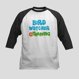Bird watcher in training Kids Baseball Jersey