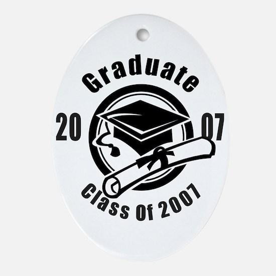 Graduation Class Of 2007 Oval Ornament