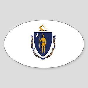 Massachusetts State Flag 2 Sticker