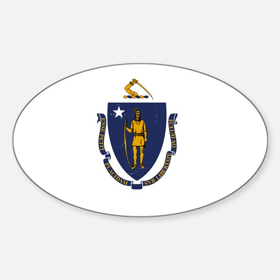 Massachusetts State Flag 2 Decal