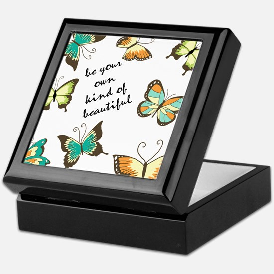 Be Your Own Beautiful Butterflies Keepsake Box