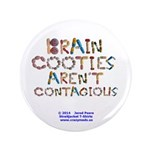 """Brain Cooties Arent 3.5"""" Button (100 Pack)"""