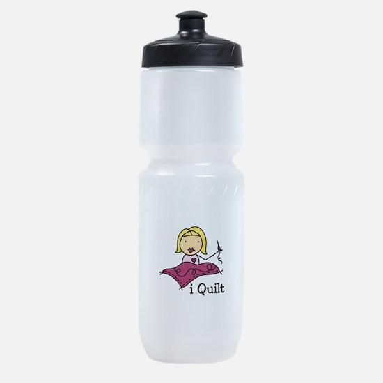 I Quilt Sports Bottle