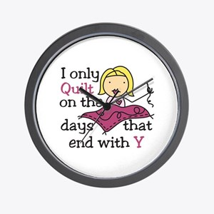 I Only Quilt Wall Clock