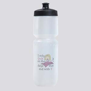 I Only Quilt Sports Bottle