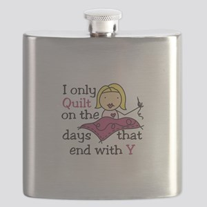 I Only Quilt Flask