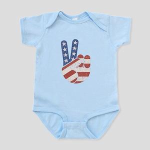 Universal Peace Hand RWB Infant Bodysuit
