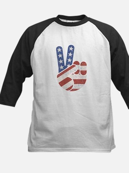 Universal Peace Hand RWB Kids Baseball Jersey