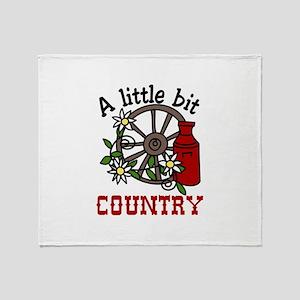 Little Bit Country Throw Blanket