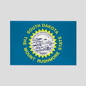 South Dakota State Flag 3 Magnets