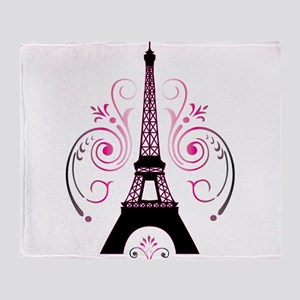 Eiffel Tower Gradient Swirl Throw Blanket